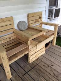 DIY Pallet Double Chair Bench | 99 Pallets