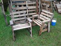 DIY Pallet A-Frame Rustic Outdoor Chair