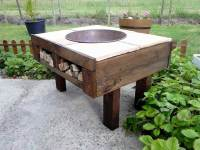 DIY Pallet Fire-Pit Table with Firewood Storage