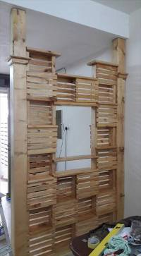 DIY Pallet Office Room Divider   99 Pallets