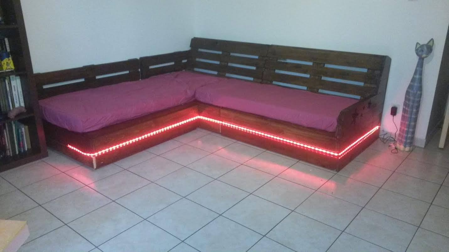 diy sofa from pallets leather co reviews pallet sectional and coffee table 99
