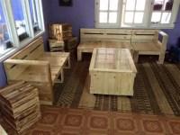 Pallet Living Room Furniture Set   99 Pallets