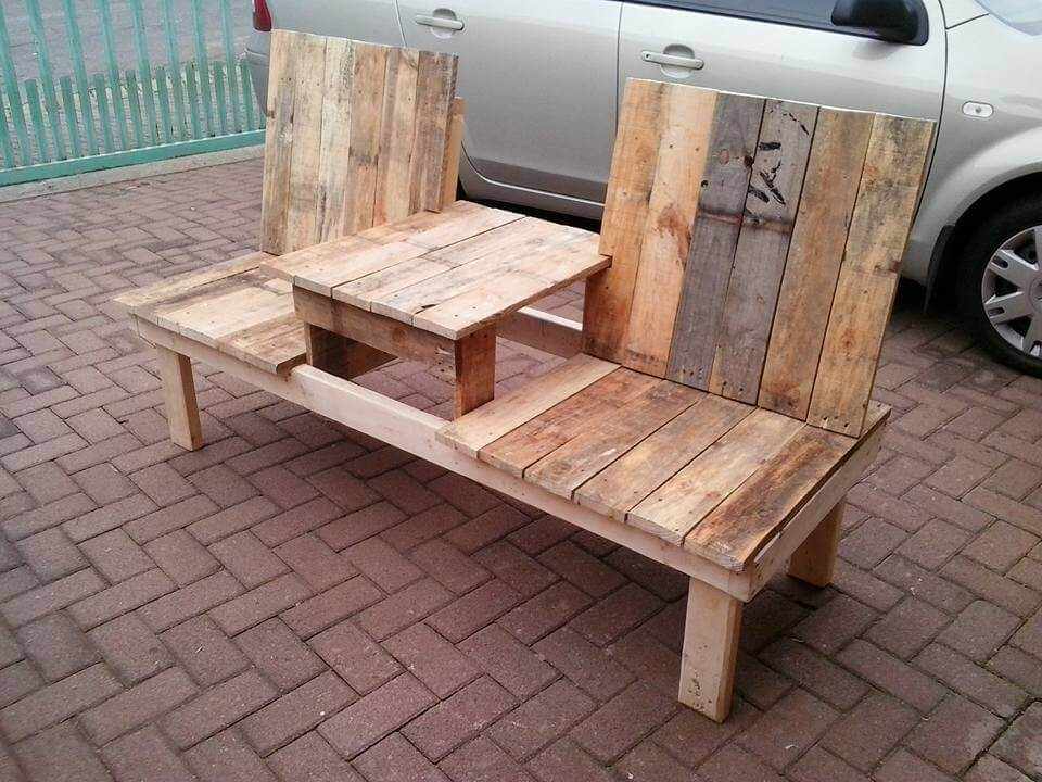 Pallet Double Chair Bench Design