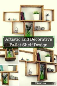 Artistic and Graceful Pallet Shelf Design