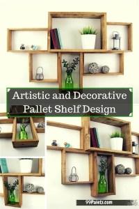 Artistic and Graceful Pallet Shelf Design