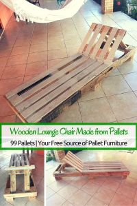 Lounge Chairs Made from Pallets