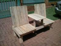 Recycled Pallet Double Chair Bench | 99 Pallets