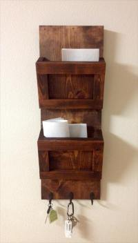 Pallet Wall Mounted Organizer
