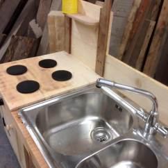 Outdoor Kitchen Sink Station Used Cabinets For Free Pallet Mud With | 99 Pallets
