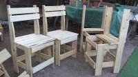 Pallets Wood Outdoor Dining Set