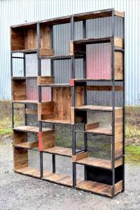 Industrial Pallets and Steel Shelves