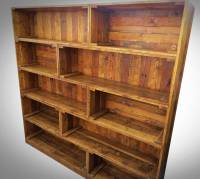 Antique Pallet Bookcase Built-in Crate Style