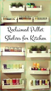 Reclaimed Pallet Shelves for Kitchen | 99 Pallets