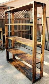 DIY Reclaimed Pallet Bookshelf / Bookcase