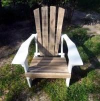 DIY Pallet Adirondack Chairs Set   99 Pallets