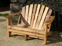DIY Pallet Adirondack Chairs Set