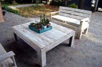 Wooden Pallet Furniture Set For Patio | 99 Pallets