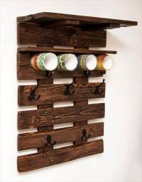 Pallet Coat Rack / Wall Organizer