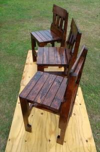 Pallet Kitchen Counter Chairs