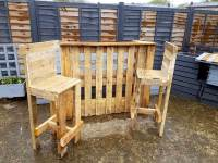 Pallet Bar Table & Chairs | 99 Pallets