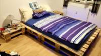 Pallet Bed With Lights Underneath