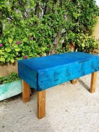 Pallet Benches for Garden