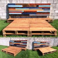 DIY Pallet Bed Frame with Headboard