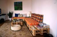 Pallet Sofa and Coffee Table for Living room