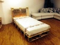 DIY Pallet Bed with Lights | 99 Pallets