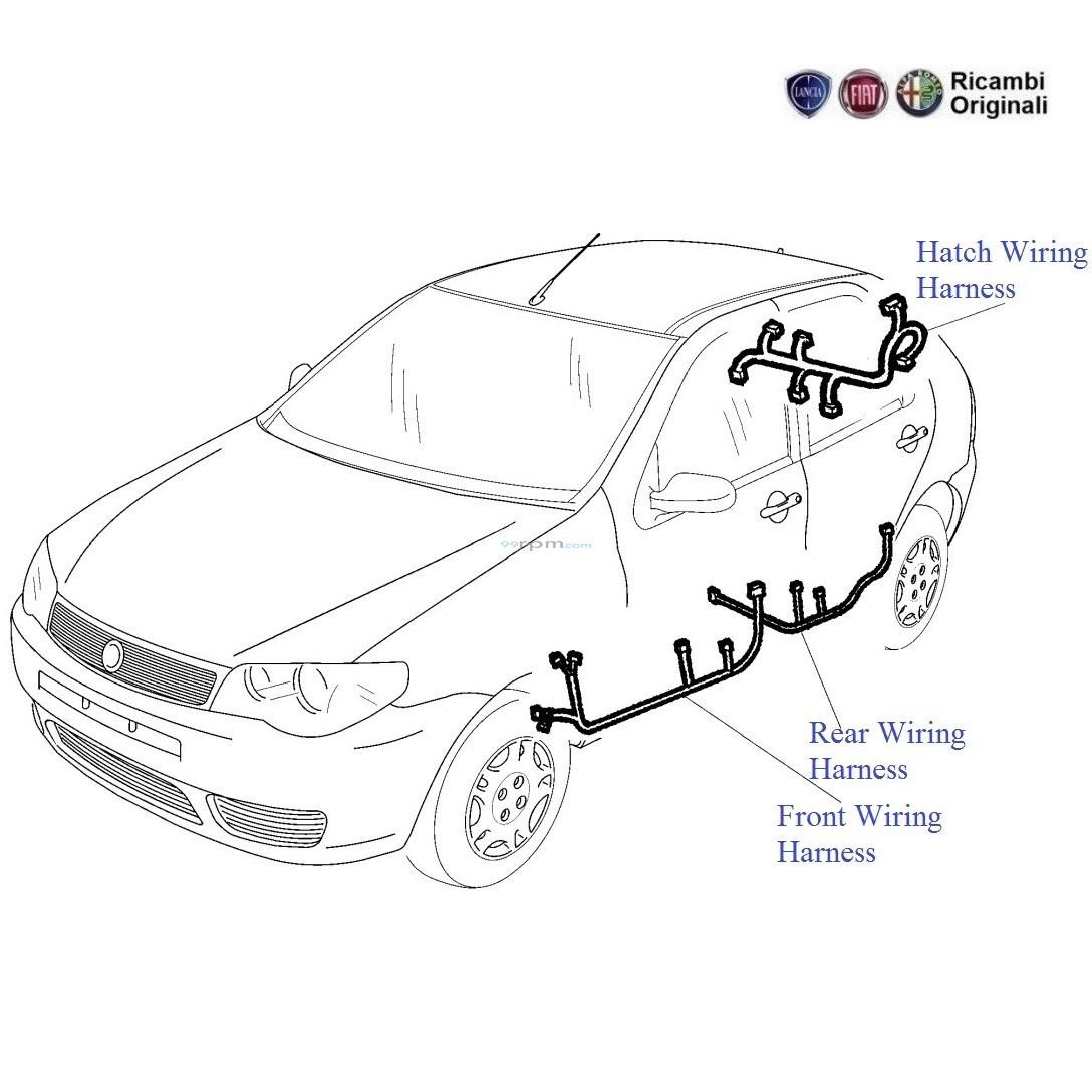 FIAT Palio 1.2 Petrol: Door Wiring Harness