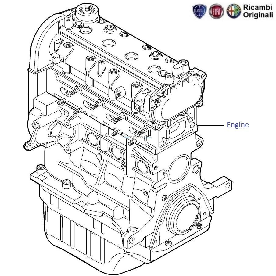 FIAT Linea 1.4 FIRE Petrol: Complete & Bare Engine