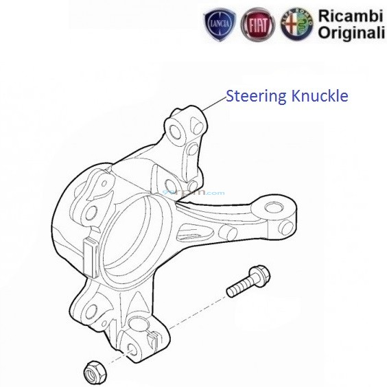 Fiat Grande Punto: Front Suspension Steering Knuckle