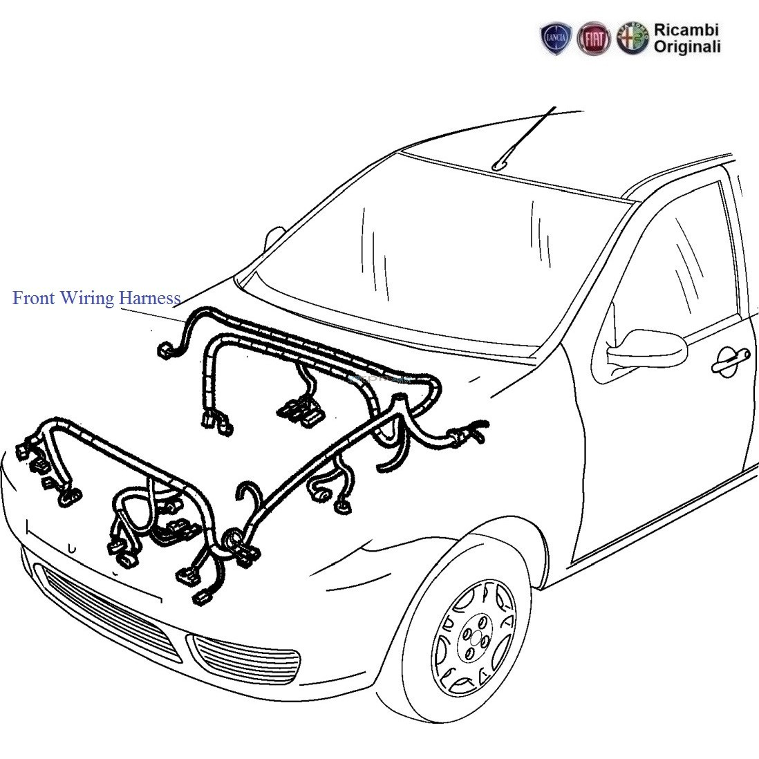Fiat Palio Stile 1.1 Petrol: Front Wiring Harness