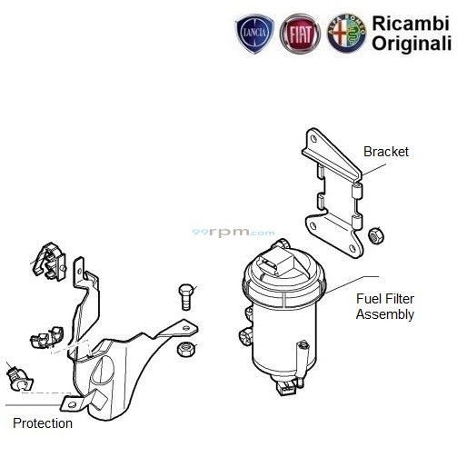 Fuel Filter: FIAT Palio Stile 1.3 multijet Diesel