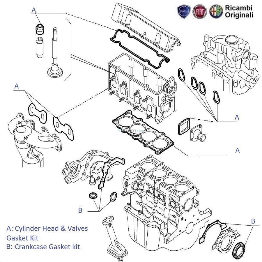 FIAT Grande Punto 1.2 FIRE: Engine Gasket kit