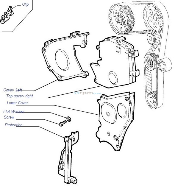 Fiat Genuine Timing belt cover & related fittings for Fiat