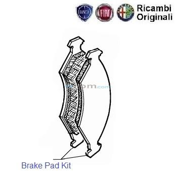 FIAT Linea: Front Brake Disc Pads Kit