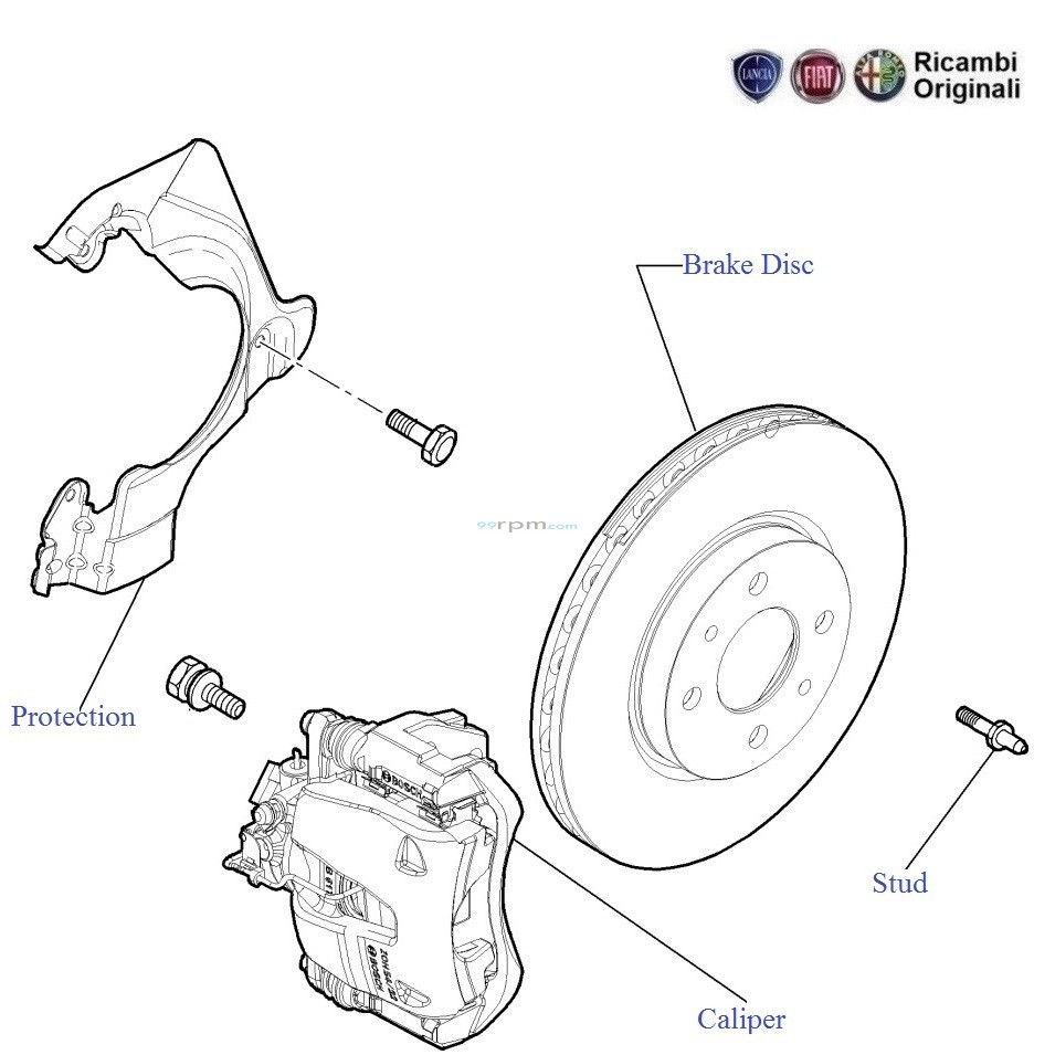 hight resolution of diagram of brake caliper