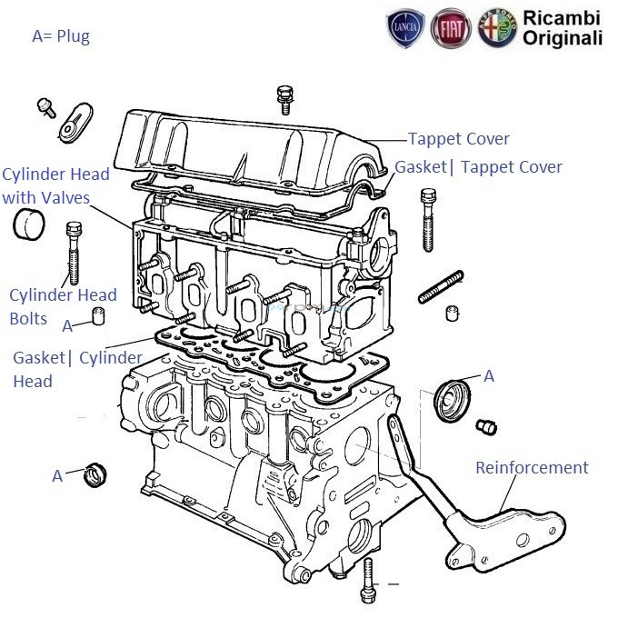 FIAT Palio 1.2: Engine Cylinder Head & Cover