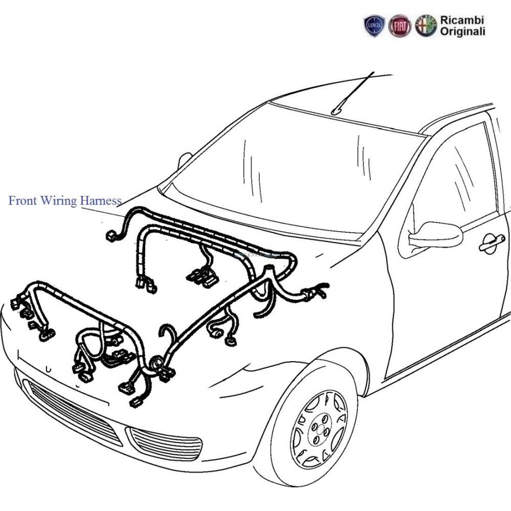 medium resolution of front wiring harness 1 6 palio stile