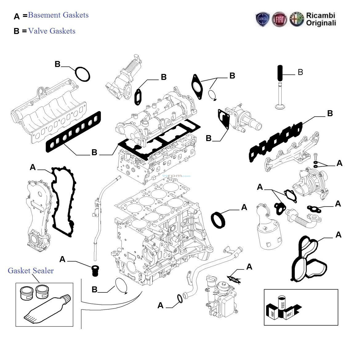 FIAT Punto 1.3 MJD: Engine Gaskets Kit