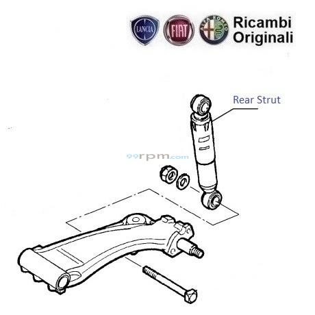 Fiat Siena Weekend : Rear Suspension Strut