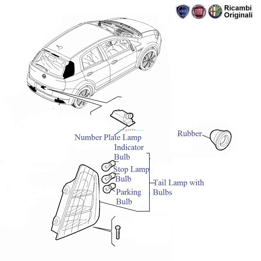 FIAT Grande Punto: Tail Lamp and Bulbs