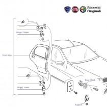 FIAT Door Rear Spare Parts for FIAT Palio, Uno, Siena