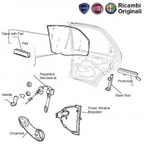FIAT Rear Glass for FIAT Palio, Uno, Siena, Petra, Punto