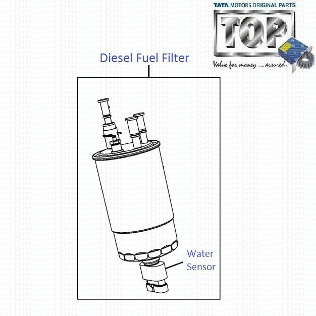 TATA Indica Vista 1.3 Quadrajet: Diesel Fuel Filter with
