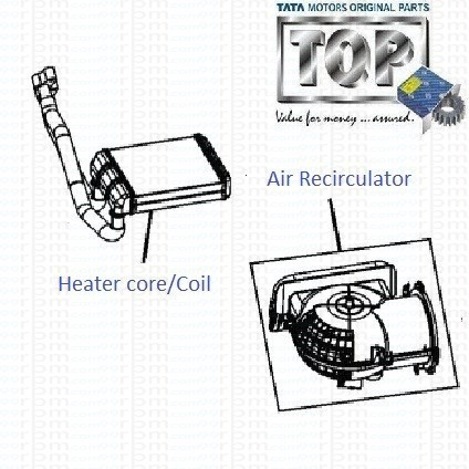 TATA Nano: Air Conditioning Heater Core/Coil and Air