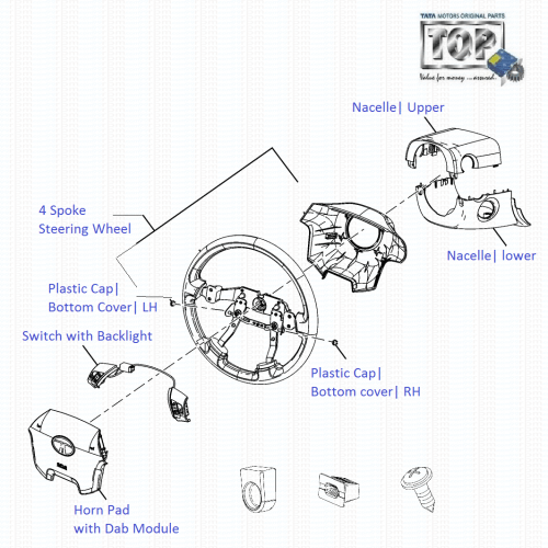 small resolution of steering wheel assembly 1 3 qjet 90ps vista d90