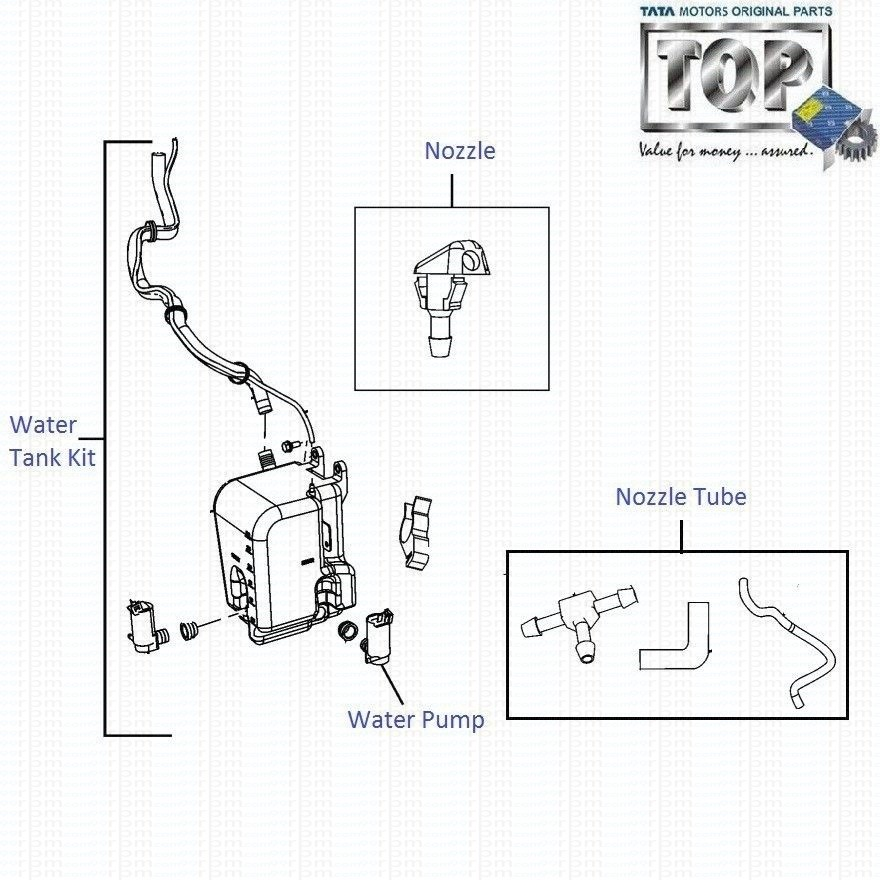 TATA Indica Vista & Vista Sedan Class: Wiper Fluid Tank & Pump