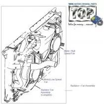 TATA Radiator Fan Motor for Tata Indica, Indigo, Safari